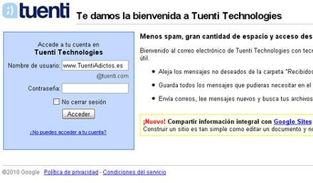 tuenti-gmail